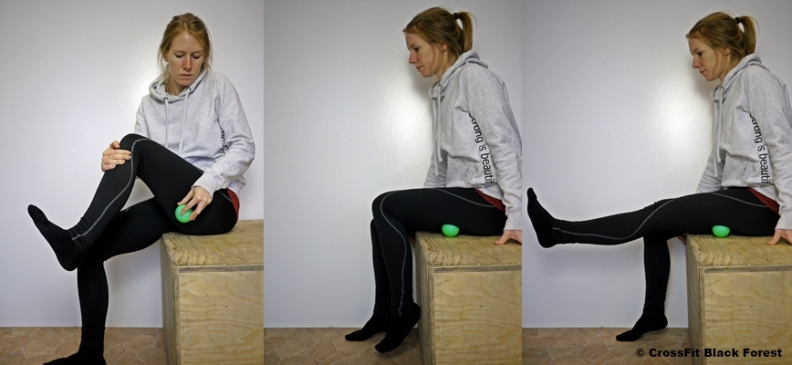 Mobilisation der Hamstrings mit Lacrosse-Ball
