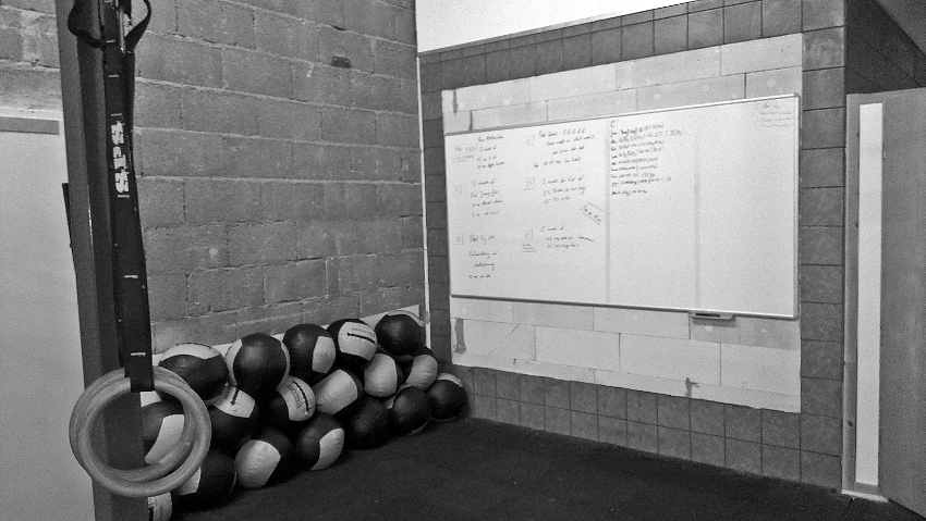 crossfit whiteboard
